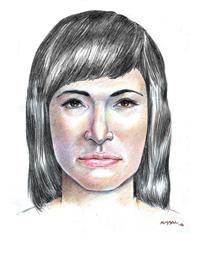 Krimtegning av hvordan Isdalskvinnen så ut