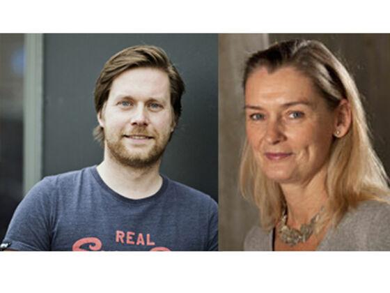 Profilbilder av Claus Desler Madsen til venstre, og Lene Juel Rasmussen til høyre.