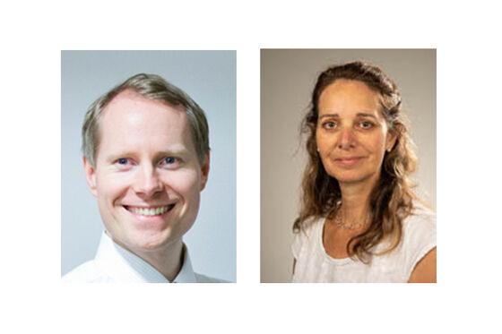 Profilbilder av Tor Paaske Utheim til venstre og Catherine Jackson til høgre